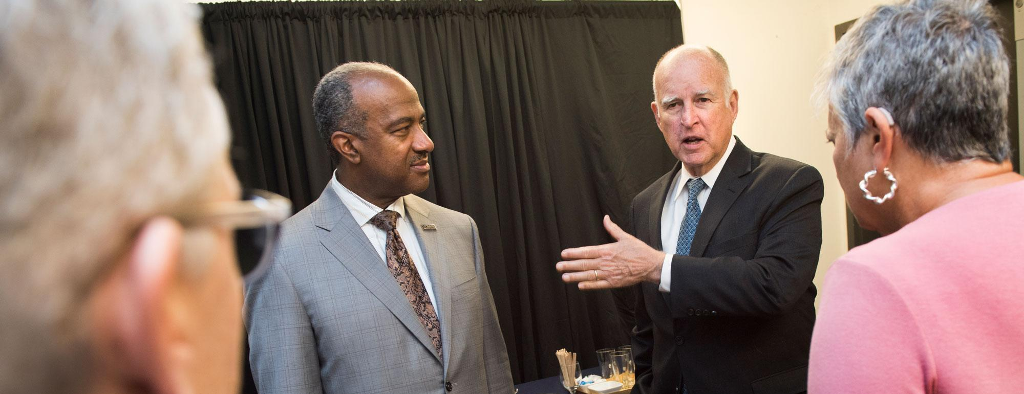 chancellor may with governor brown photo