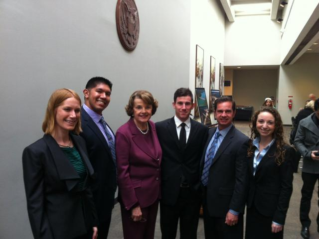 feinstein with grad students image